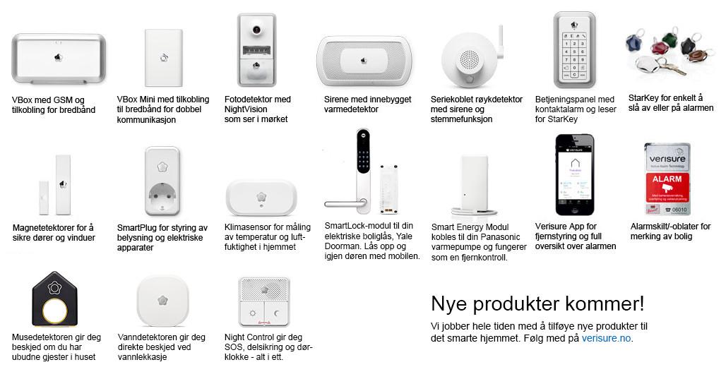 Våre produkter boligalarm i hjemmet