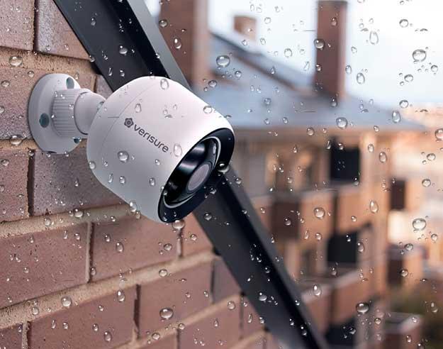 Vanntette regntette sikkerhetskamera